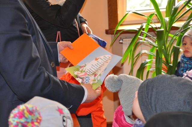 Ilustracja do informacji: Wielkanocna wizyta przedszkolaków