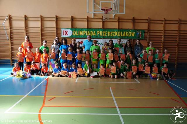 Ilustracja do informacji: IX Olimpiada Przedszkolaków w Kosieczynie