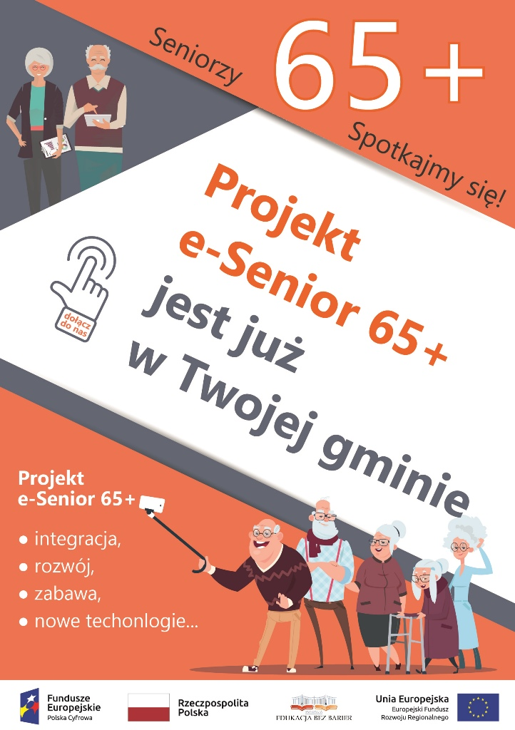 """Ilustracja do informacji: Projekt e-Senior 65+ """"Obywatel cyfrowej przyszłości"""""""
