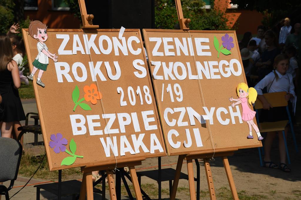 Ilustracja do informacji: Zakończenie roku szkolnego 2018/2019