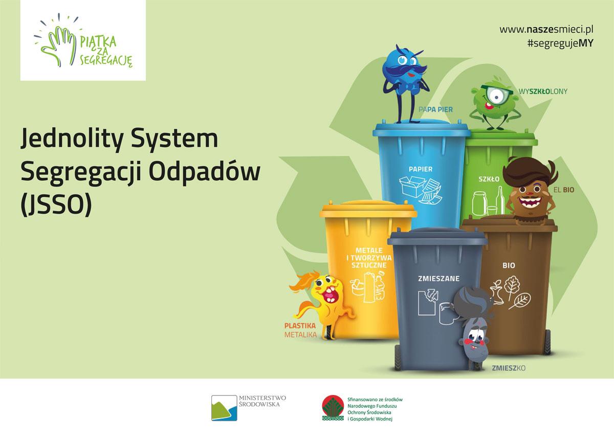 Ilustracja do informacji: Jednolity System Segregacji Odpadów