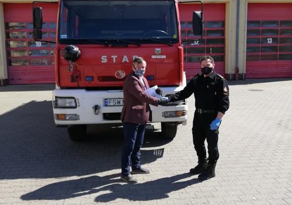Ilustracja do informacji: Nowy wóz strażacki dla OSP Kręcko