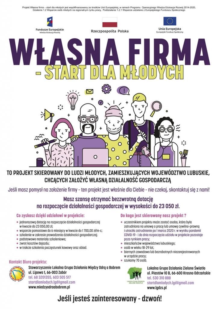 """Ilustracja do informacji: """"WŁASNA FIRMA - START DLA MŁODYCH"""""""