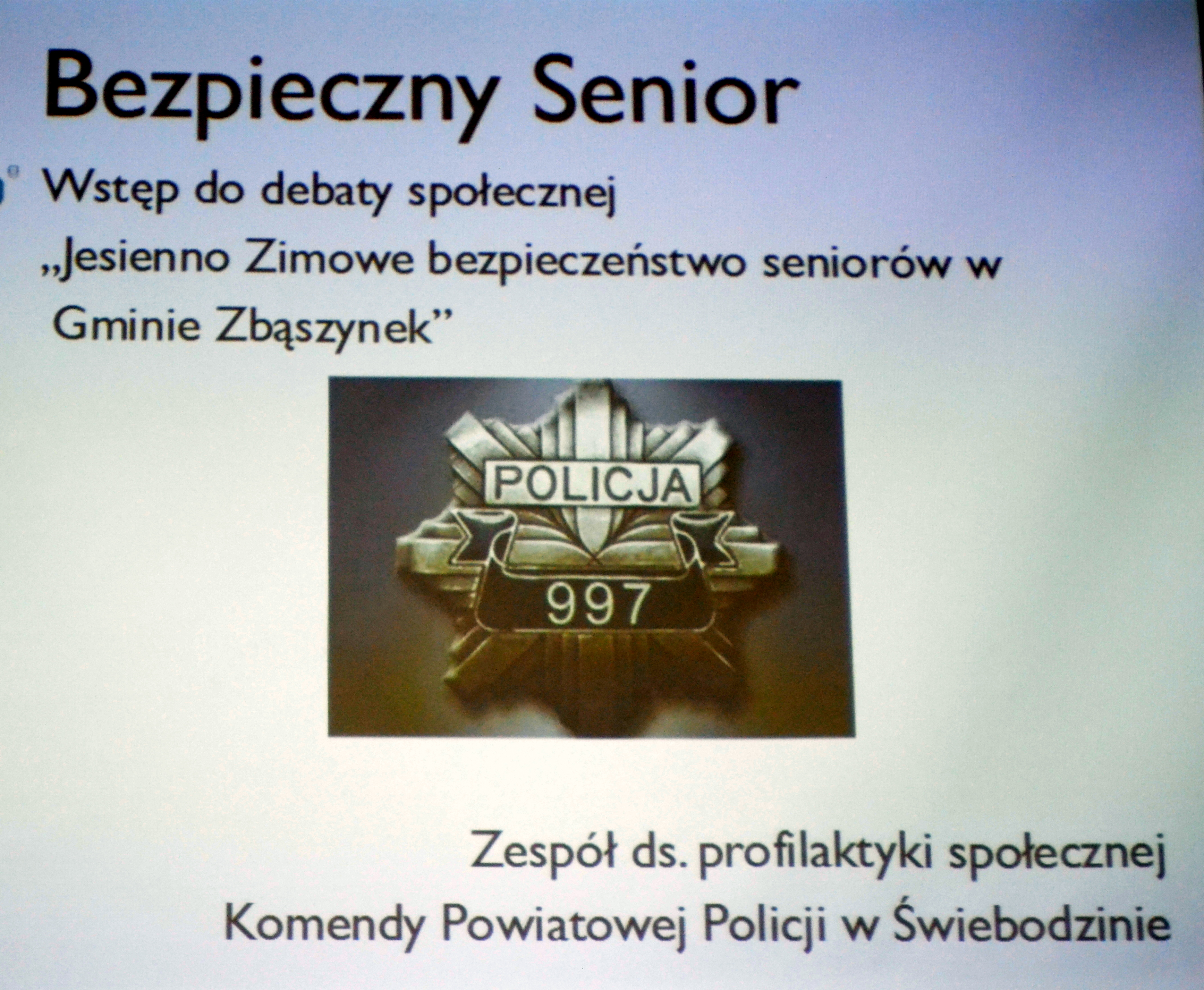 Ilustracja do informacji: DEBATA SPOŁECZNA NT. BEZPIECZEŃSTWA SENIORÓW