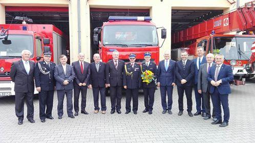 Ilustracja do informacji: Pożegnanie komendanta powiatowego PSP w Świebodzinie
