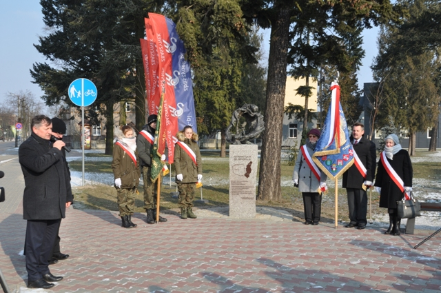 Ilustracja do informacji: Poświecenie pomnika na Placu Dworcowym